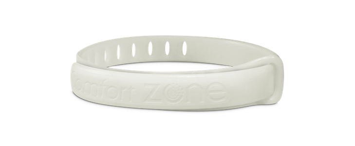 white calming pheromone collar out of packaging