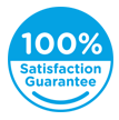 100% satisfaction guarantee icon